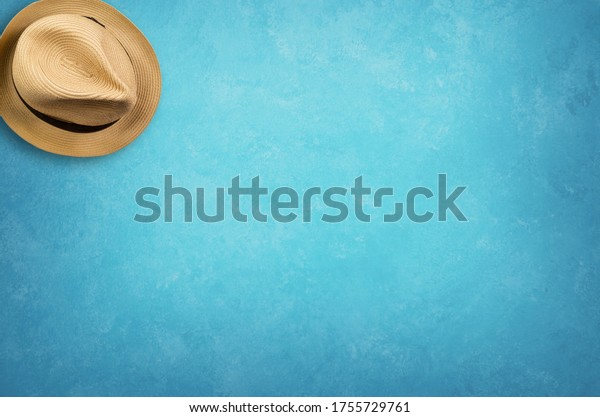 Summer holiday background with beach hat