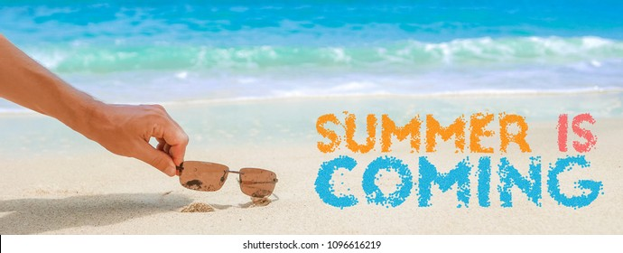 Summer holiday commercial concept, summer is coming