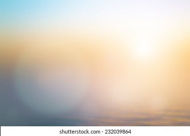 Summer holiday concept: Abstract blur beach sunset texture background
