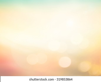 Summer holiday concept: Abstract blur beauty yellow nature with bokeh sun light background