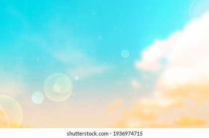 Summer Holiday Concept: Abstract Blurred Light Beach with Autumn Sky Sky Background - Shutterstock ID 1936974715