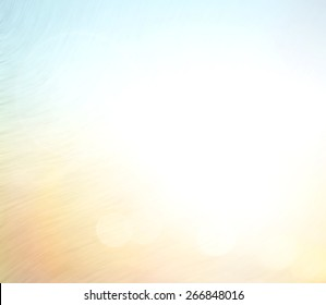 Summer holiday concept: Abstract white sun light and blurred beautiful beach texture background