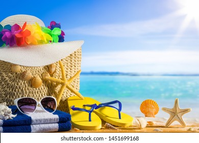 Summer holiday concept, sea background