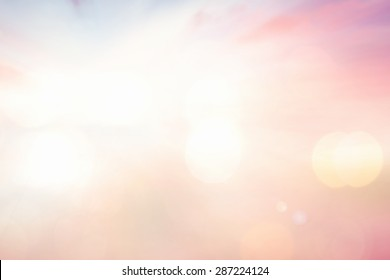 Summer holiday concept: Vintage style, Abstract blur beauty pink sunset background.