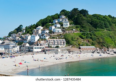 summer holidays in looe, cornwall, england, uk.