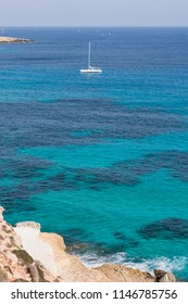 Summer holidays in the Mediterranean Sea pesso the island of Lampedusa.