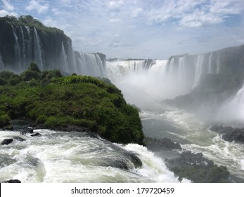 Summer in Iguazu Falls on the Brazil/Argentina border in South America