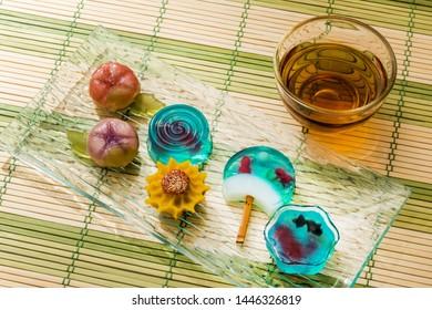 Summer Japanese foods sweets (wagashi)