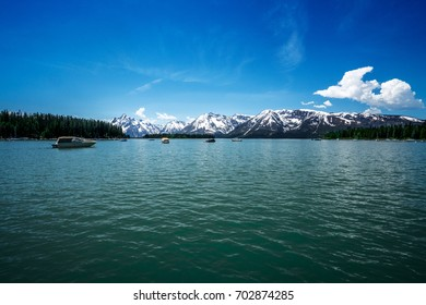 Summer Lake under the Mountain