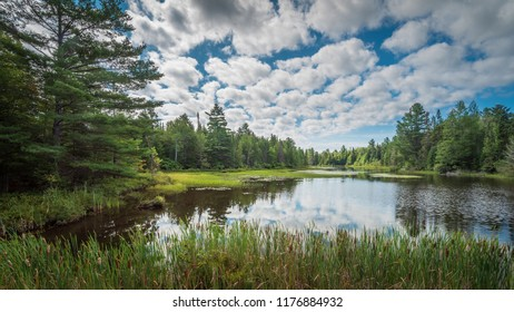 Summer landscape in the Adirondack region of New York