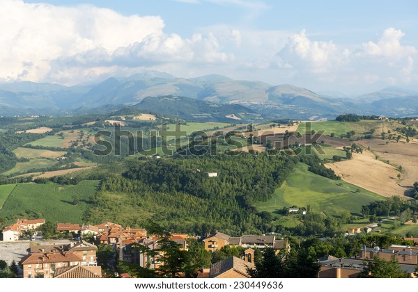 Summer landscape from Camerino (Macerata, Marches, Italy)