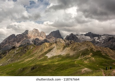 Summer landscape from Dolomites, Italy