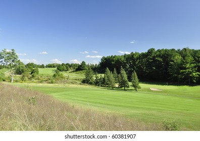 summer landscape with golf course
