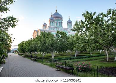 Summer landscape in Holy Trinity Saint Serafim-Diveyevo Monastery