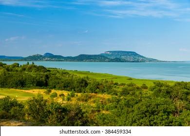 Summer landscape at Lake Balaton, Hungary