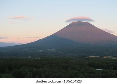 Summer landscape of Mount Yotei in Niseko, Hokkaido, Japan