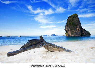 summer landscape in the mountain and sea , Krabi , Thailand