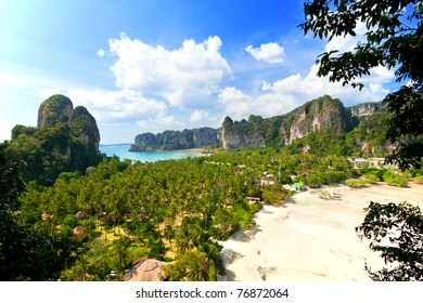 summer landscape in the mountains and sea, view point , Krabi , Thailand