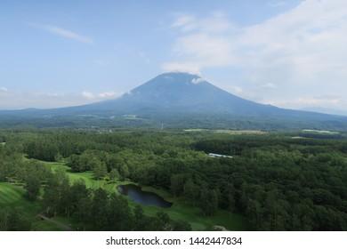 Summer landscape of Mt. Yotei in Niseko, Hokkaido, Japan