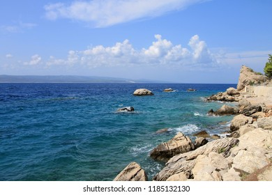 Summer landscape near Adriatic sea , Croatia