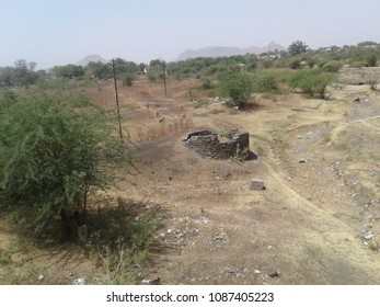 Summer landscape near Shirdi in North India