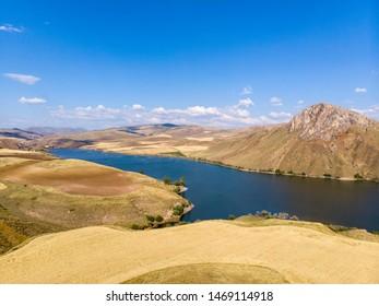 Summer landscape near tercan reservoir,eastern anatolia,turkey