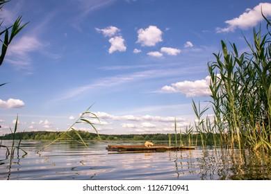 Summer landscape on Bear lakes