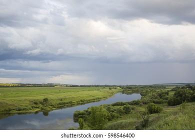 Summer landscape. River.