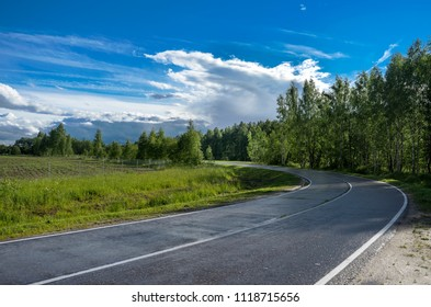 Summer landscape with the road