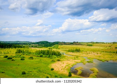 Summer landscape in the Russian outback. Russian outback, Summer Landscape.