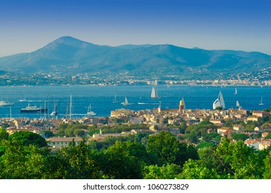 summer landscape of Saint Tropez cityscape, France