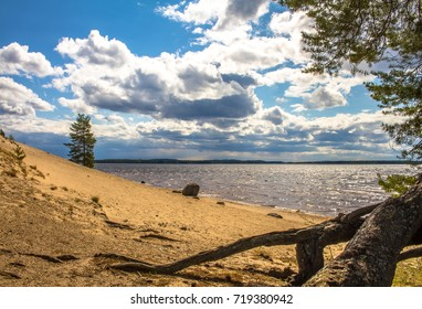 Summer landscape from Sotkamo, Finland.
