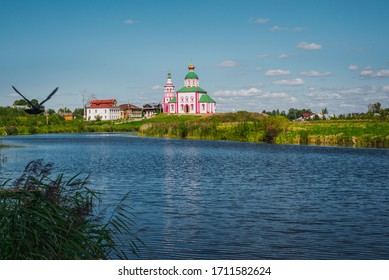 Summer landscape in Suzdal, Golden Ring of Russia