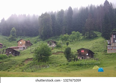 Summer landscape of Turkey rural country side, Ayder Yaylasi
