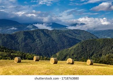 Summer landscape of the Tuscan-Emilian Apennines