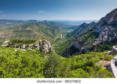 Summer Landscape - View from Montserrat Mountain, Spain