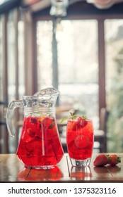 summer lemonade of fresh fruit