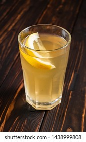 summer lemonade in the glass