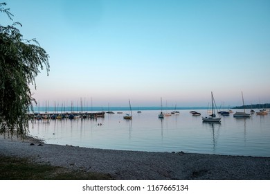 Summer morning at Lake Ammersee, Herrsching