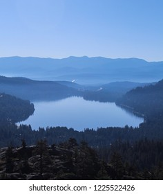 Summer morning view of Donner Lake.