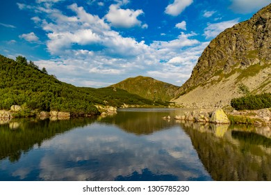 Summer mountain landscape. Rohace mountain lake. Slovakia, Tatry National park. Slovakia. Beautiful slovak nature