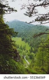 Summer mountain landscape in Tatra mountain. Summer time