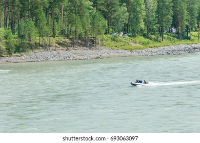 Summer mountain river in the Altai