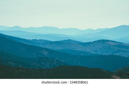 Summer mountains landscape. Mountain range