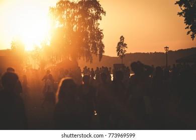 Summer music festival sunset.