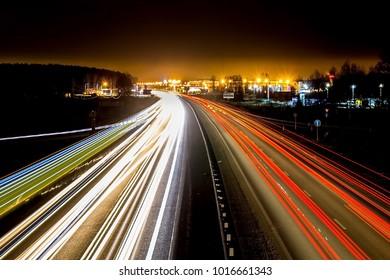 summer night motorway