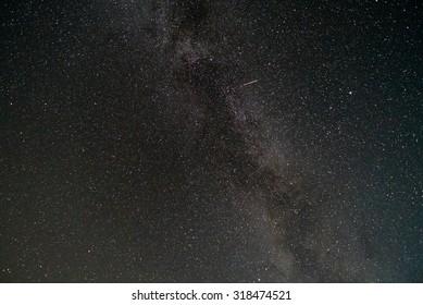 Summer night sky, milky way