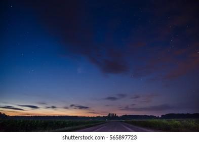 Summer night and stars