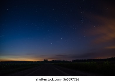 Summer night and stars