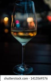 Summer night wine at night